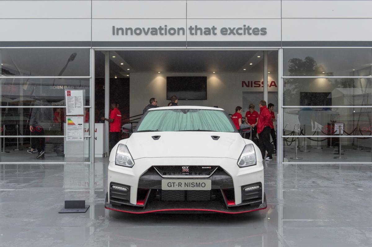 Novo Nissan GT-R  no Festival de Velocidade deGoodwood