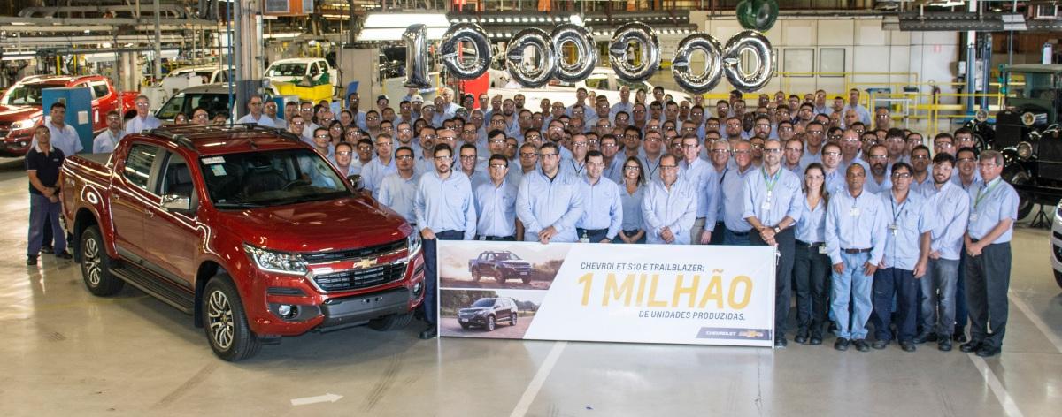 S10 e TrailBlazer atingem a marca de 1 milhão de unidades produzidas noBrasil
