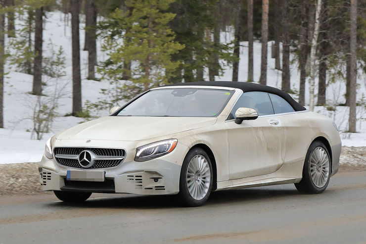 SEGREDO: Facelift do Mercedes Classe S Cabriolet