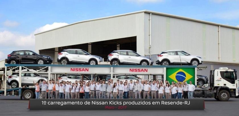 Nissan Kicks produzido em Resende (RJ) já está chegando às co
