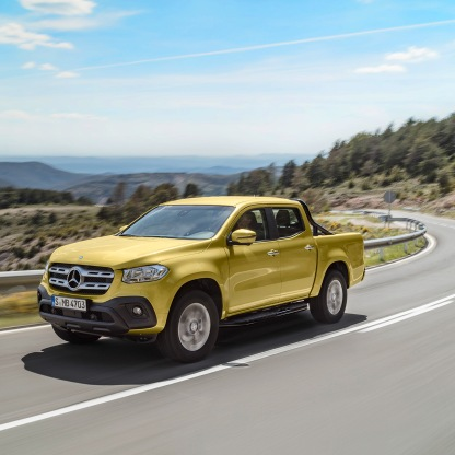 Mercedes-Benz X-Klasse – Exterieur, Limonitgelb metallic, Ausstattungslinie PROGRESSIVE // Mercedes-Benz X-Class – Exterior, limonite yellow metallic, design and equipment line PROGRESSIVE
