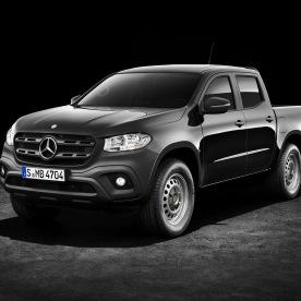Mercedes-Benz X-Klasse – Exterieur, Kabaraschwarz metallic, Ausstattungslinie PURE // Mercedes-Benz X-Class – Exterior, kabara black metallic, design and equipment line PURE