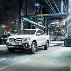 Mercedes-Benz X-Klasse – Exterieur, Beringweiß metallic, Ausstattungslinie POWER // Mercedes-Benz X-Class – Exterior, bering white metallic, design and equipment line POWER