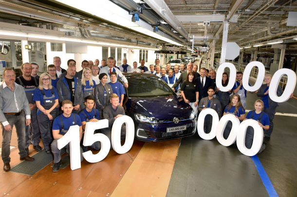VW comemora a produção de 150 milhões de veículos em suahistória