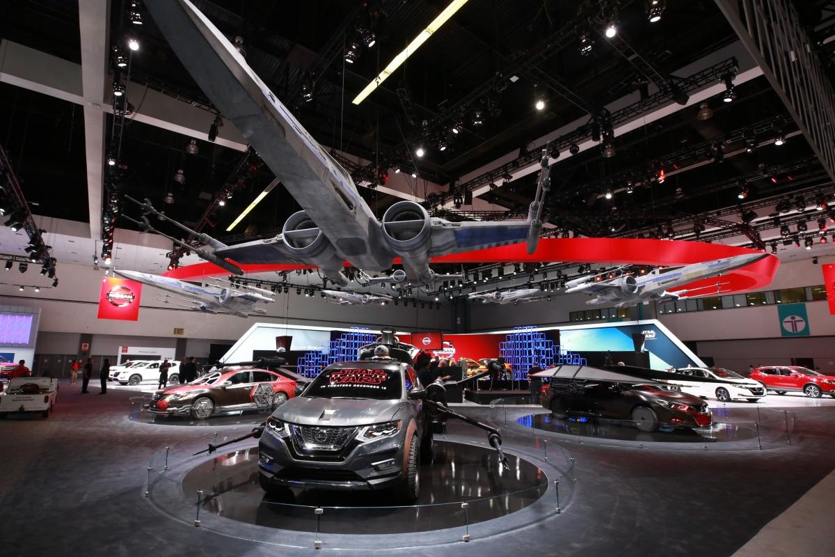 LA Auto Show: Stand da Nissan  é inspirado na saga cinematográfica StarWars