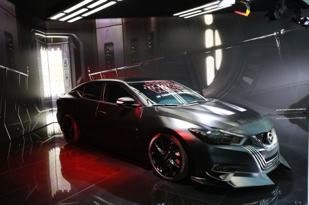 2018 Maxima inspired by Star Wars: The Last Jedi character Kylo Ren on display at the 2018 LA Auto Show.