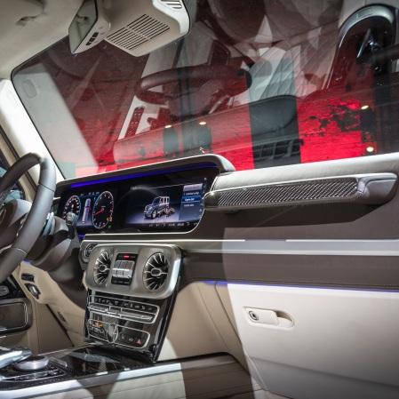 Mercedes-Benz Neujahrsempfang am Vorabend der North American International Auto Show (NAIAS) 2018. Weltpremiere der neuen Mercedes-Benz G-Klasse. Mercedes-Benz New Year's Reception on the eve of the 2018 North American International Auto Show (NAIAS). World Premiere of the new Mercedes-Benz G-Class.