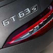 Mercedes-AMG GT 63 S 4MATIC+ 4-Türer Coupé, AMG Carbon-Paket, Exterieur: Rücklicht, Außenfarbe: Graphitgrau magno;Kraftstoffverbrauch kombiniert: 11,2 l/100 km; CO2-Emissionen kombiniert: 256 g/km* (vorläufige Daten) Mercedes-AMG GT 63 S 4MATIC+ 4-Door Coupé, AMG Carbon-packet, Exterior: Rear light, Exterior mirror, Detail, Exterior paint: graphite grey magno, colour variation black;Fuel consumption combined: 11,2 l/100 km; CO2 emissions combined: 256 g/km* (provisional data)