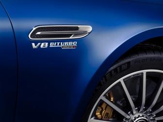 Mercedes-AMG GT 63 S 4MATIC+ 4-Türer Coupé, AMG Silver-Chrome Paket, Exterieur: Außenfarbe: Brilliantblau magno, Rad: AMG Leichtmetallrad;Kraftstoffverbrauch kombiniert: 11,2 l/100 km; CO2-Emissionen kombiniert: 256 g/km* (vorläufige Daten) Mercedes-AMG GT 63 S 4MATIC+ 4-Door Coupé, AMG Silver-chrome packet, Exterior: Exterior paint: brilliant blue magno, Wheel: AMG light-alloy wheel;Fuel consumption combined: 11.2 l/100 km; CO2 emissions combined: 256 g/km* (provisional data)