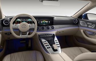 Mercedes-AMG GT 63 S 4MATIC+ 4-Türer Coupé, AMG Silver-Chrome Paket, Interieur: Leder Exklusiv STYLE magmagrau / macchiato, Zierteil: Holz Esche offenporig metallisiert;Kraftstoffverbrauch kombiniert: 11,2 l/100 km; CO2-Emissionen kombiniert: 256 g/km* (vorläufige Daten) Mercedes-AMG GT 63 S 4MATIC+ 4-Door Coupé, AMG Silver-chrome packet, Interior: Leather exclusive STYLE magma grey /macchiato, Body trim: Wood ash open-pored metallised;Fuel consumption combined: 11.2 l/100 km; CO2 emissions combined: 256 g/km* (provisional data)