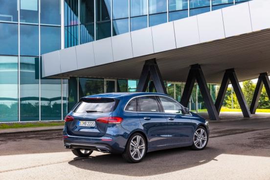 Mercedes-Benz B-Klasse, denimblau Mercedes-Benz B-Class, denim blue