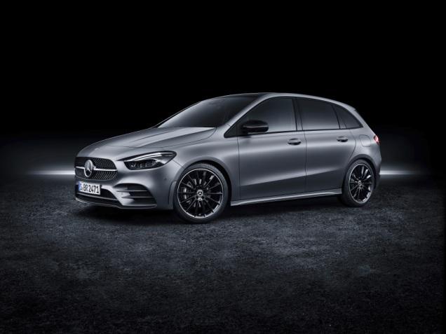 Mercedes-Benz B-Klasse, designo mountaingrau magno, AMG Styling Mercedes-Benz B-Class, designo mountain grey magno, AMG styling